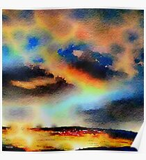 Nature,water color,painting,classy,beautiful,dark colors,contemporary Poster