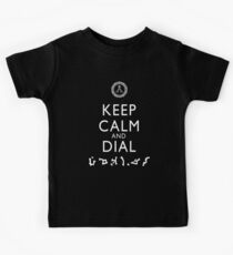 Keep Calm and Dial Earth (white) Kids Clothes