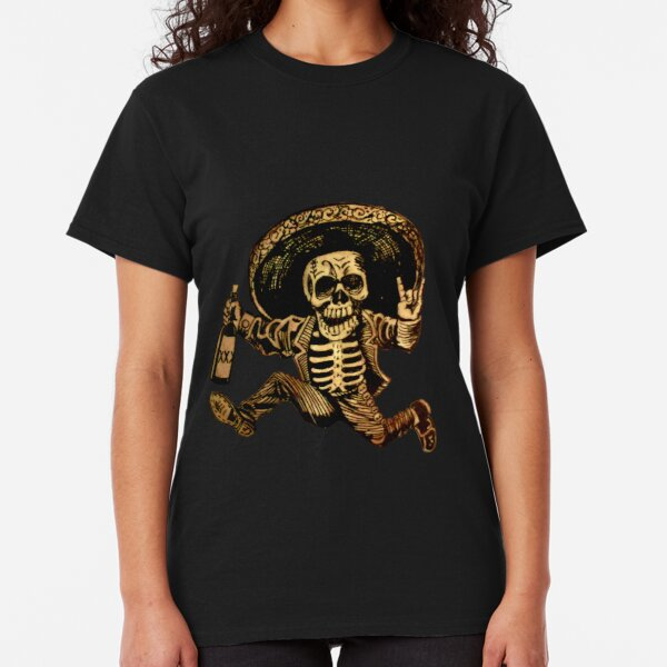 Sugar Daisy Skull Women/'s V-Neck T-Shirt Day of the Dead Mexico Flower Calavera