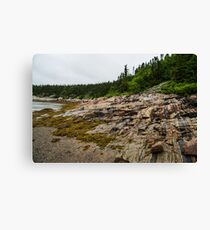 Low Tide - Walking on the Bottom of Saint Lawrence River Canvas Print