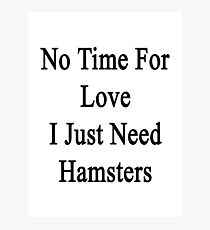 No Time For Love I Just Need Hamsters Photographic Print