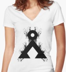 Camiseta entallada de cuello en V ¿Ves a casa?
