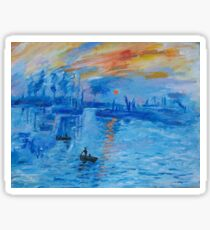 Impression, Sunrise Monet painting Soleil Levan Sticker