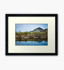 Idyllic landscape in Cantabria Framed Print