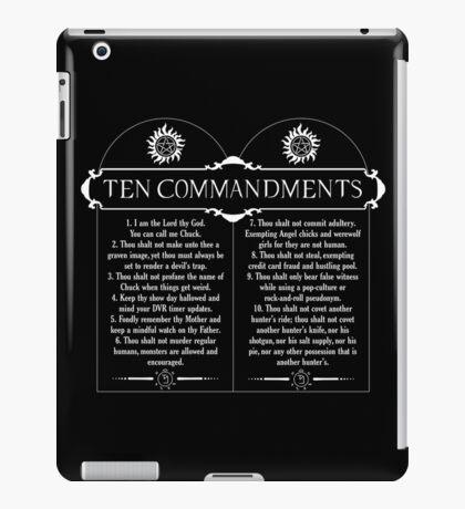 Supernatural 10 Commandments iPad Case/Skin