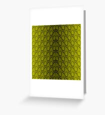 Golden Yellow and Black Python Snake Skin Reptile Scales Greeting Card