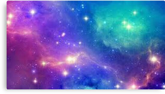 blue and pink galaxy canvas prints by xxprettysellsxx redbubble