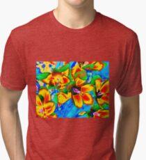 Trendy Violets in Pastels Colors Tri-blend T-Shirt