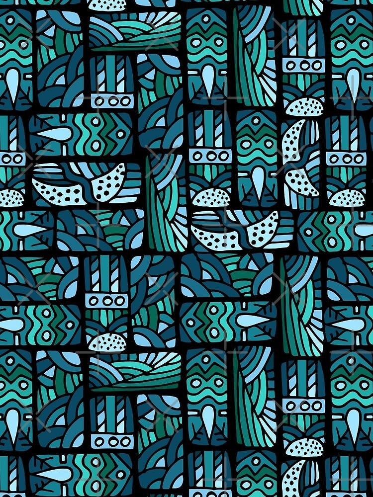 Ethnisches blaues Muster von JuliaBadeeva