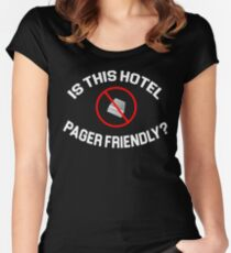 The Hangover Quote - Is This Hotel Pager Friendly? Women's Fitted Scoop T-Shirt