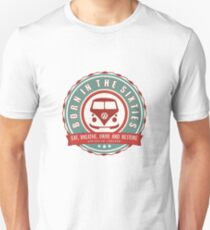 Retro Badge Sixties Red Green T-Shirt