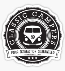 Retro Badge Black VW Classic Sticker