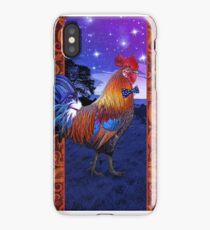 Rooster with a bowtie iPhone Case/Skin