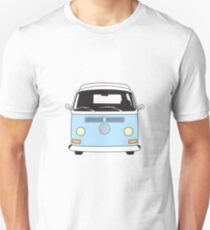 Early Bay VW Camper Front Pale Blue T-Shirt