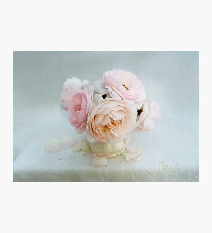 Bouquet of Pastel June Roses Photographic Print