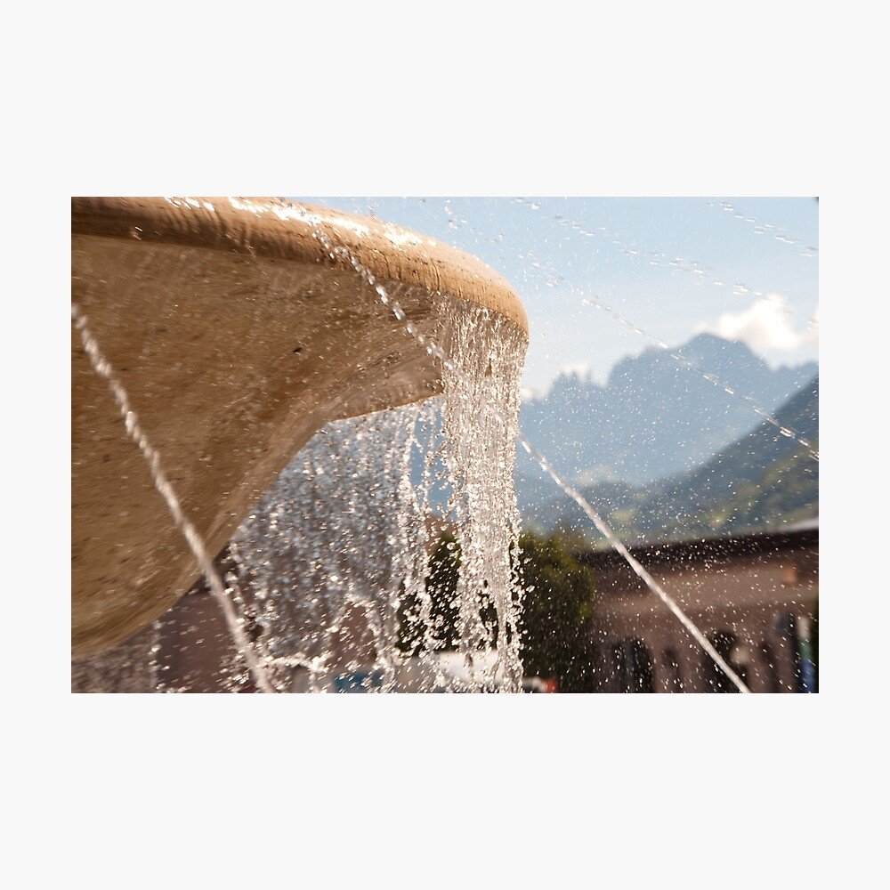 Fountain, Train Station Plaza,  Bolzano/Bozen Photographic Print