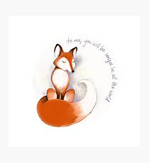 The Little Fox Photographic Print