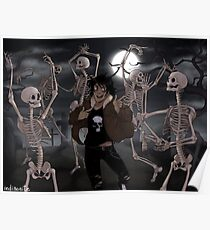Spooky Scary Skeletons Poster