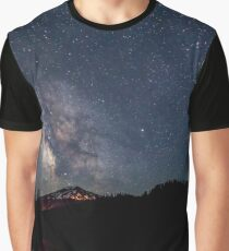 Milky Way over Mt. Bachelor Graphic T-Shirt