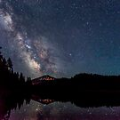 Milky Way over Mt. Bachelor by Richard Bozarth