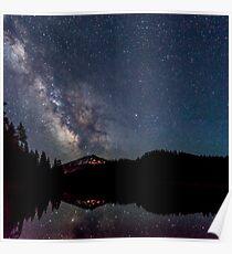 Milky Way over Mt. Bachelor Poster