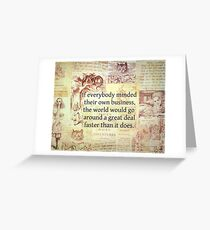 Alice in Wonderland. Quote Greeting Card