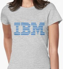 IBM Blue Logo Womens Fitted T-Shirt