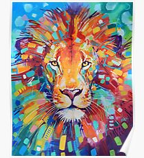 Abstract Lion Poster