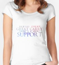 Great Support Women's Fitted Scoop T-Shirt
