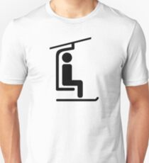 Ski Chairlift Unisex T-Shirt