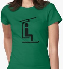 Ski Chairlift Womens Fitted T-Shirt