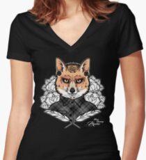 Mr Fox Women's Fitted V-Neck T-Shirt