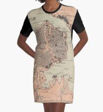 Vintage Map of Havana Cuba (1898) 2 Graphic T-Shirt Dress