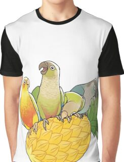 Green Cheek Paradise Graphic T-Shirt