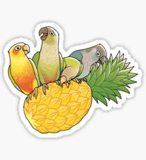 Green Cheek Paradise Sticker