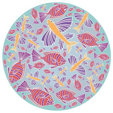 Template with cartoon fishes by -ashetana-