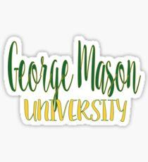George Mason University Sticker