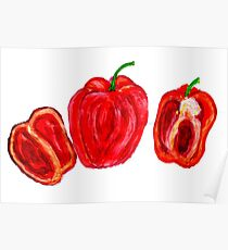 Three Peppers Art Poster