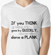 One Minute Plank Men's V-Neck T-Shirt