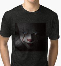 "Pennywise ""IT"" - Bill Skarsgard (Blue Eyes) Tri-blend T-Shirt"