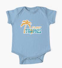Body de manga corta para bebé Flint Tropics Retro