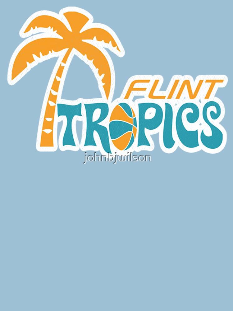 "flint tropics retro"" t-shirts & hoodiesjohnbjwilson | redbubble"