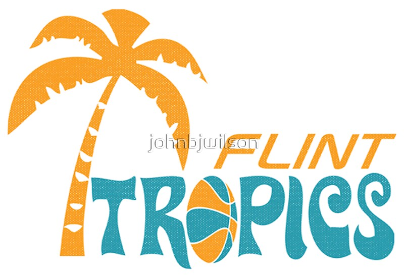 "flint tropics retro"" stickersjohnbjwilson | redbubble"