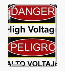 Danger high voltage & in spanish peligro alto voltaje iPad Case/Skin