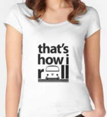 How I Roll Early Bay Black Women's Fitted Scoop T-Shirt