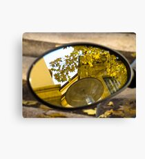 Peeking through the leaves, Bolzano/Bozen, Italy Canvas Print