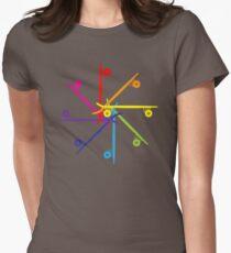 Skateboard Colour Wheel Women's Fitted T-Shirt