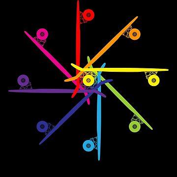 Skateboard Colour Wheel by MangaKid