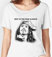 Why is the rum always gone? Women's Relaxed Fit T-Shirt
