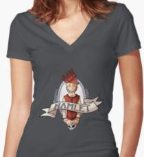 Hamlet Women's Fitted V-Neck T-Shirt